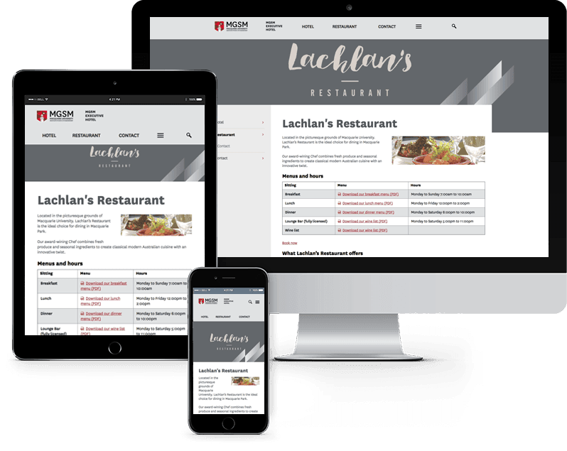 Lachlan's Restaurant website case study