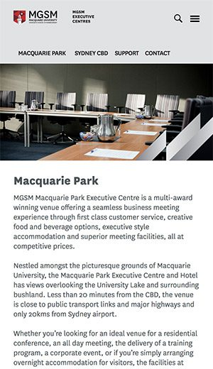 Conference venue in Sydney