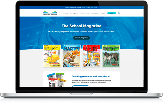 Photos of animation for primary educational website