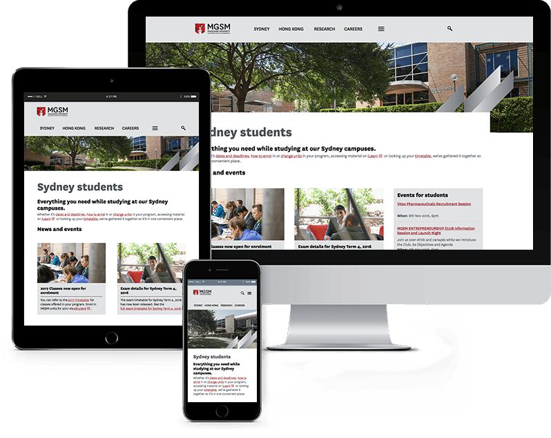 business school student website sydney