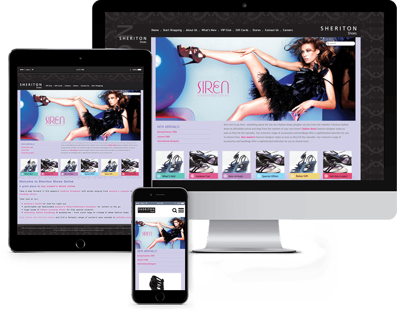 shoe website design case study
