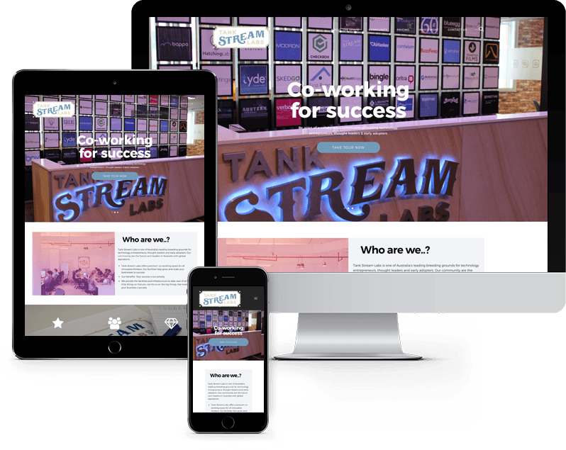Three screens of a website built by Day Dream Websites Sydney