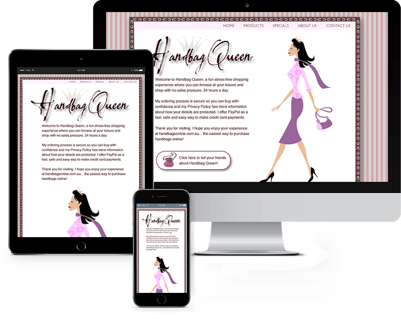 Handbag web design case study