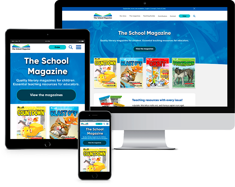 Primary education website design