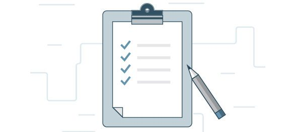 Checklist of tasks on clipboard illustration