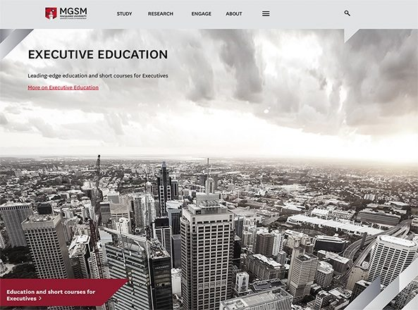 MGSM Executive education homepage