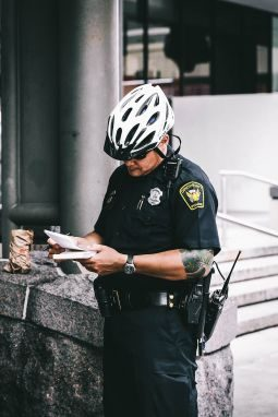 The hard working police officer